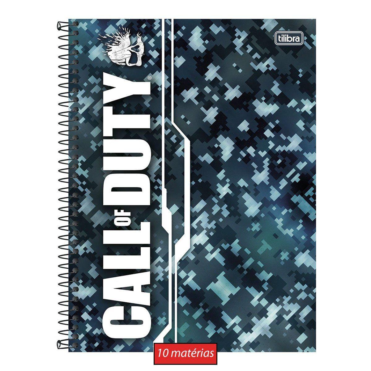 Caderno Call of Duty Camuflagem 10 Matérias