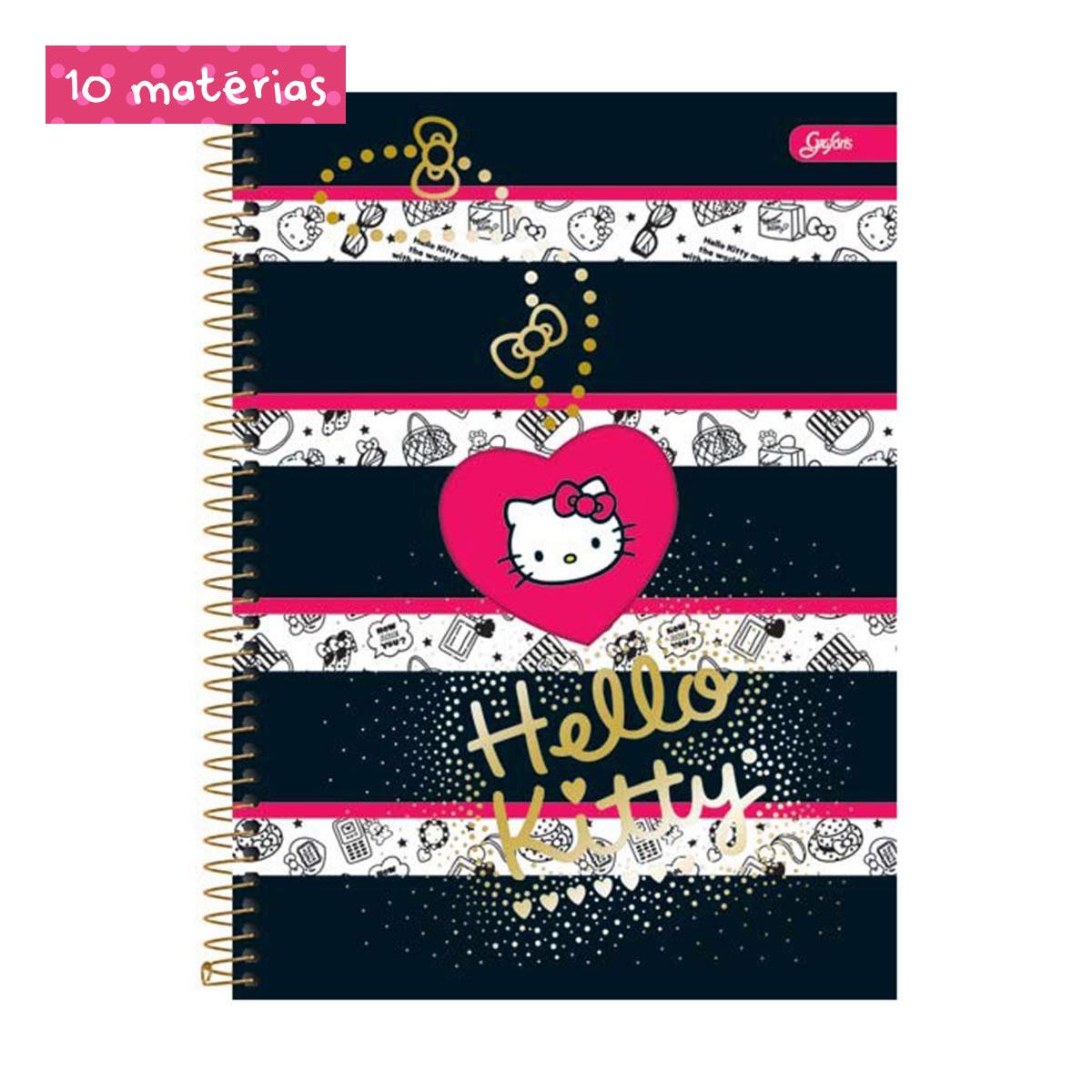 Caderno Hello Kitty Fashion Book 10 Matérias