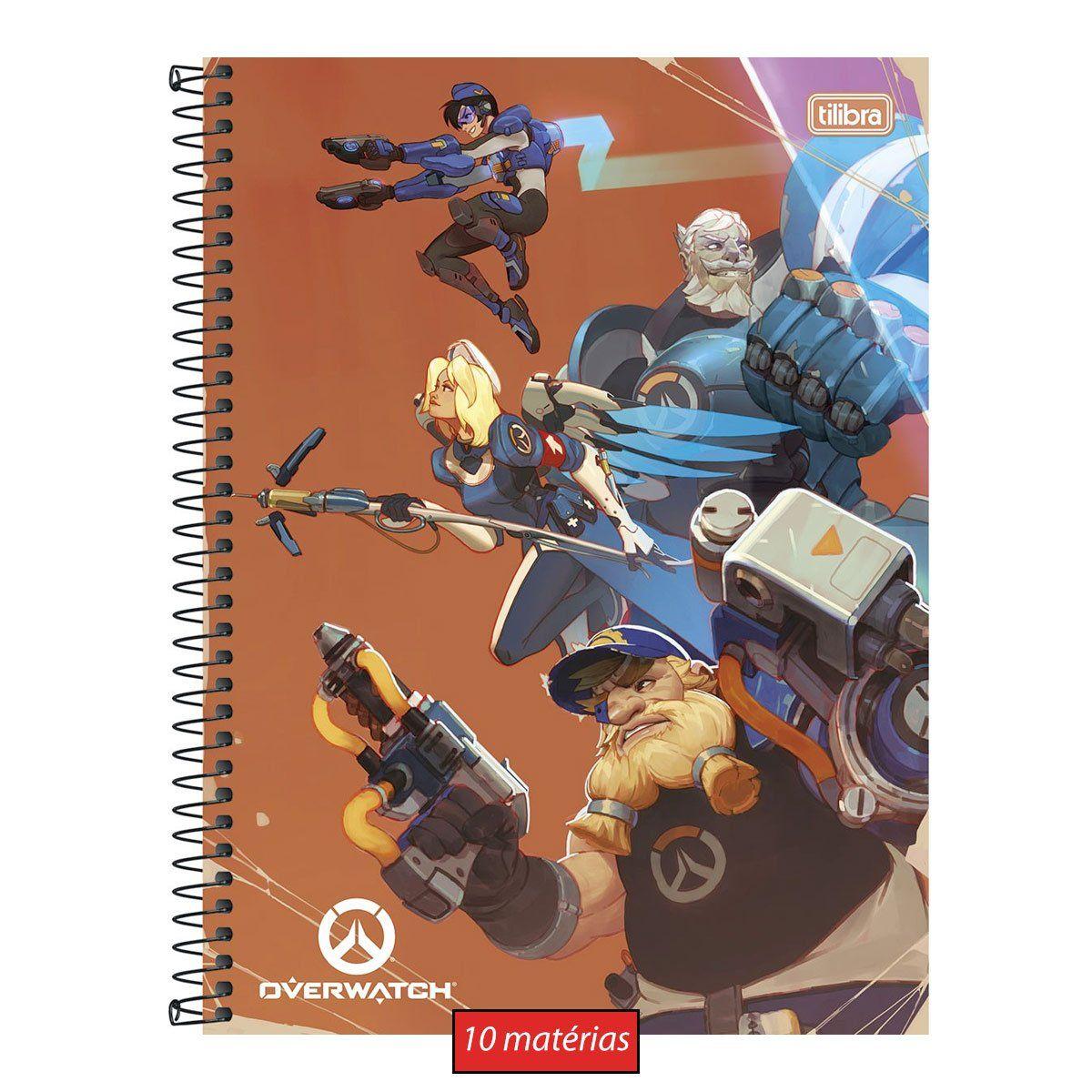 Caderno Overwatch Squad 10 Matérias