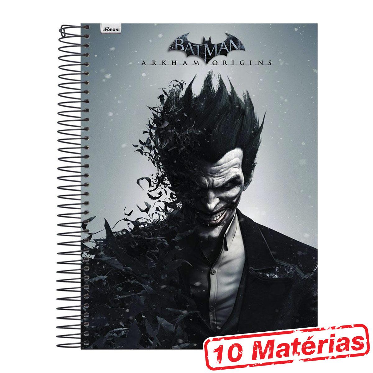 Caderno 10 Matérias The Joker Half Black Face