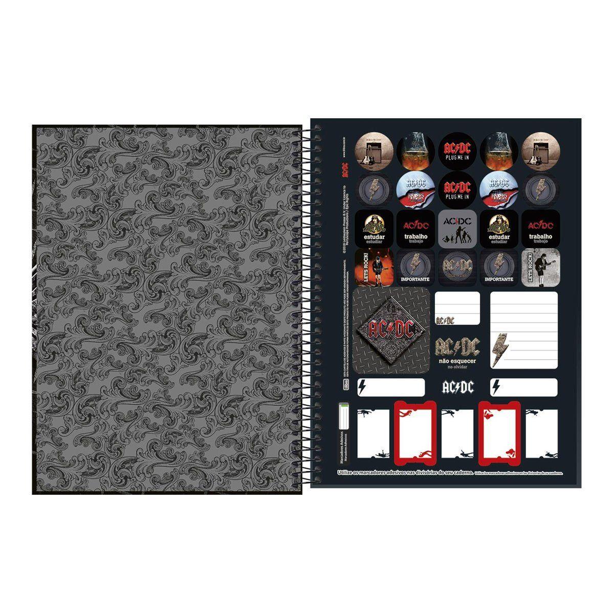 Caderno AC/DC Black Ice 1 Matéria