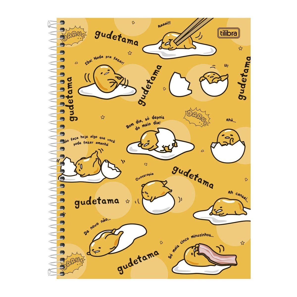 Caderno Gudetama Só Mais 5 Minutos 1 Matéria