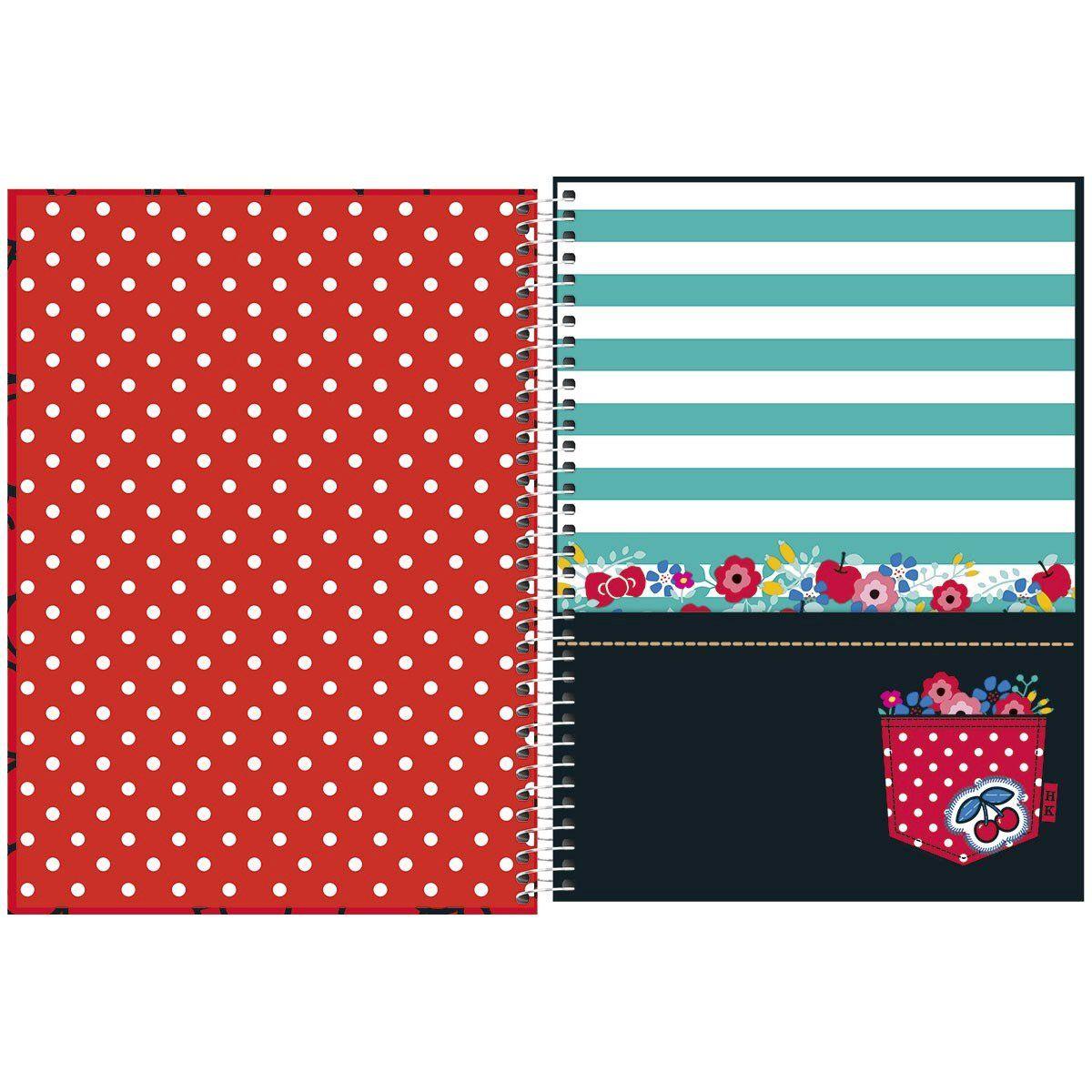 Caderno Hello Kitty Blue Cherry 1 Matéria