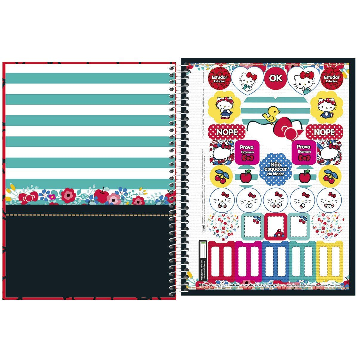 Caderno Hello Kitty Happiness 1 Matéria