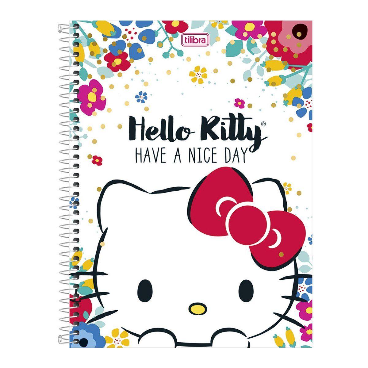 Caderno Hello Kitty Have A Nice Day 1 Matéria
