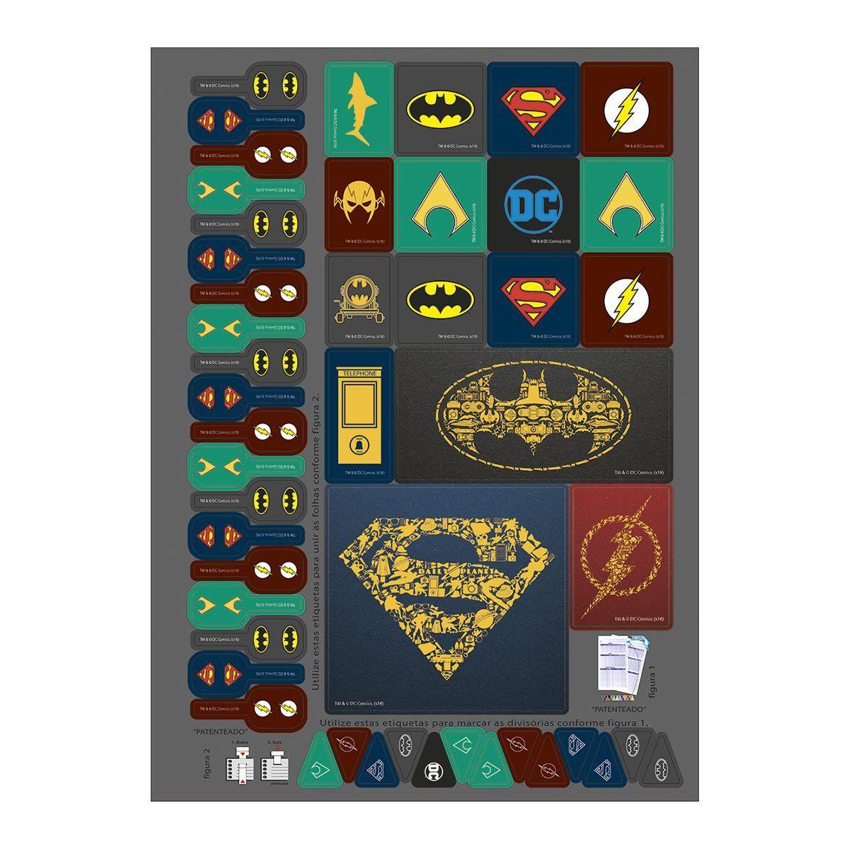 Caderno Batman Icons 1 Matéria