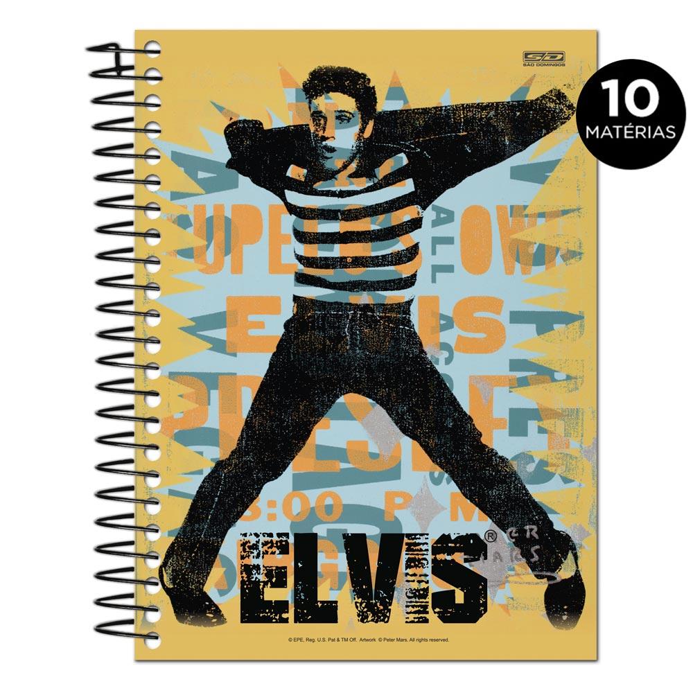 Caderno Elvis Presley The King Of Rock