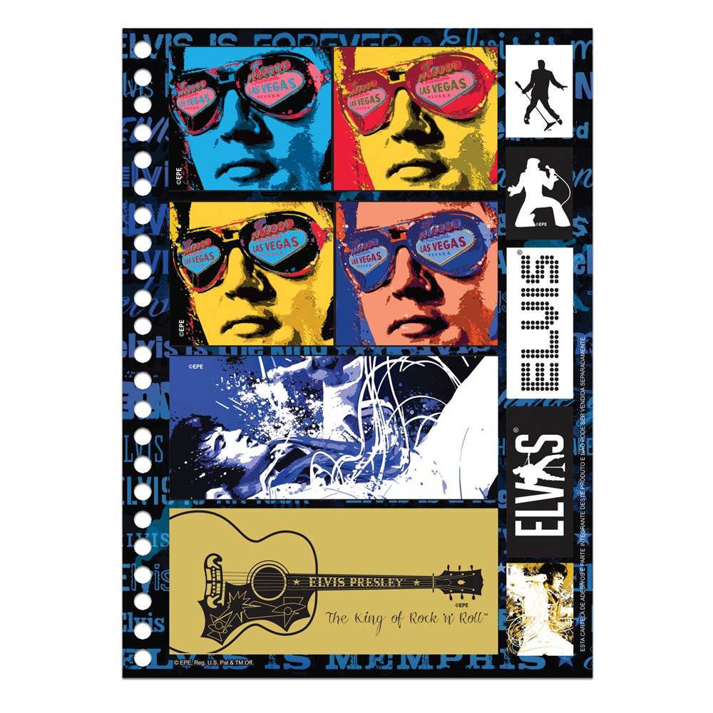 Caderno Elvis Presley The King Of Rock n´ Roll Colors 10 Matérias
