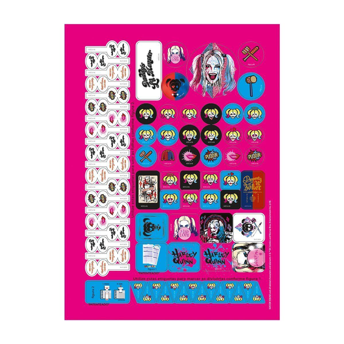 Caderno Harley Quinn Lucky You 1 Matéria