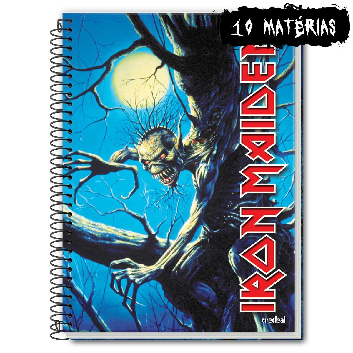 Caderno Iron Maiden Fear Of The Dark 10 Matérias