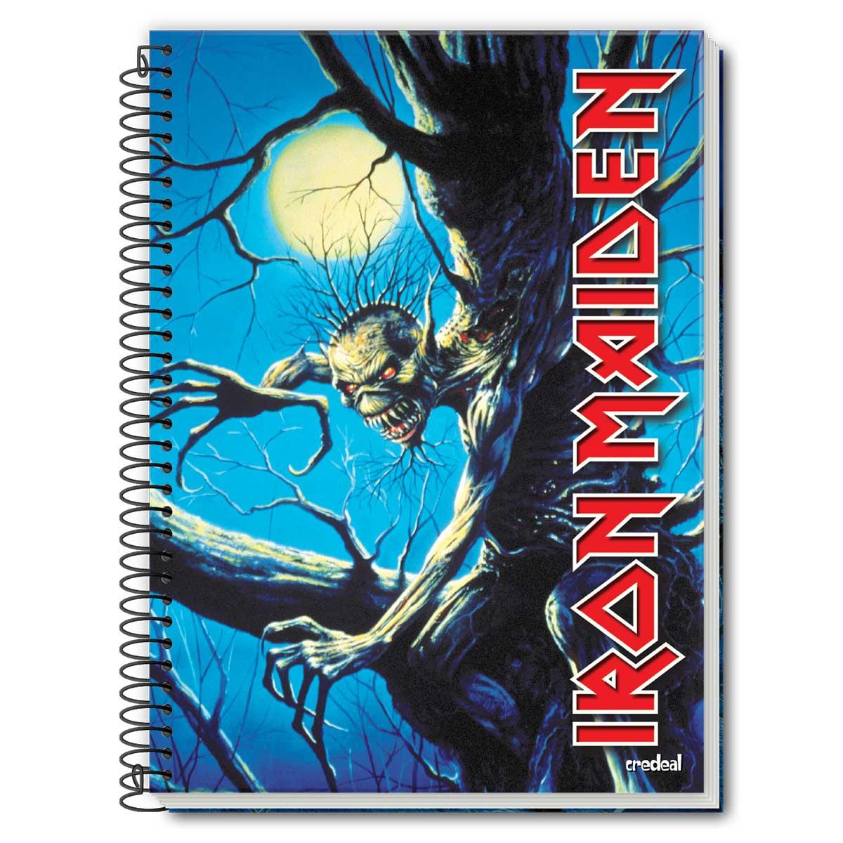 Caderno Iron Maiden Fear Of The Dark 1 Matéria
