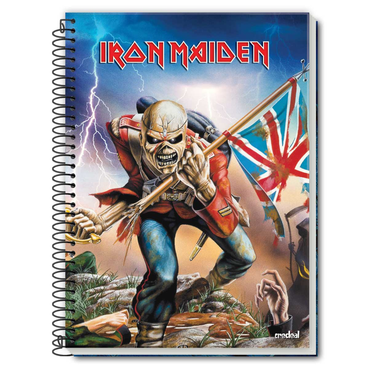 Caderno Iron Maiden The Trooper 1 Matéria