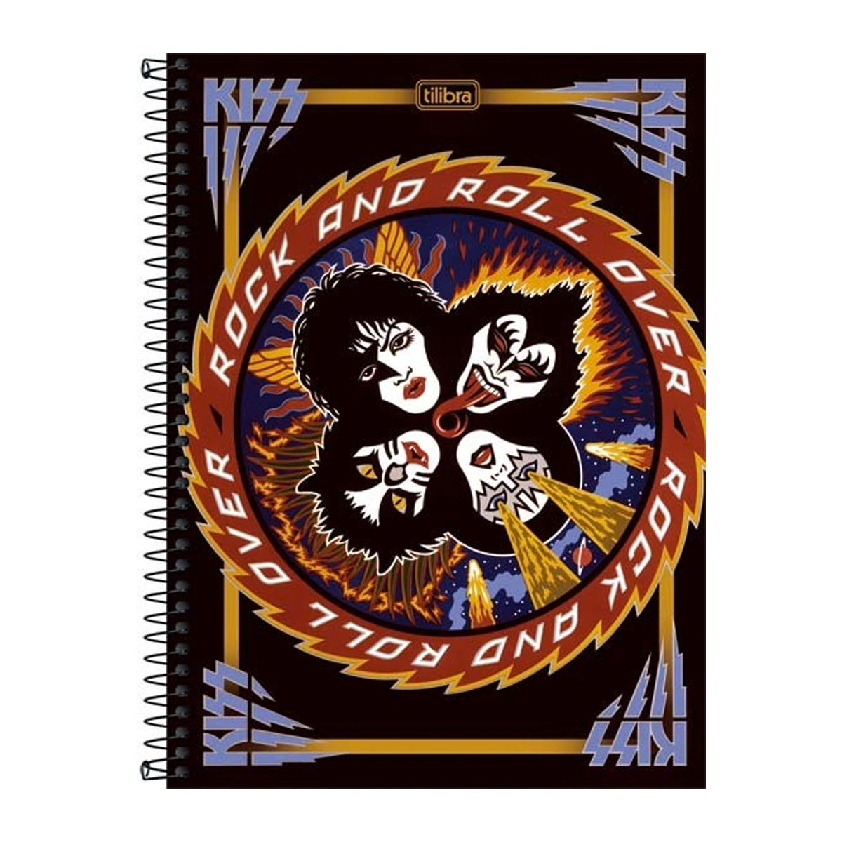 Caderno Kiss Rock And Roll Over 1 Matéria