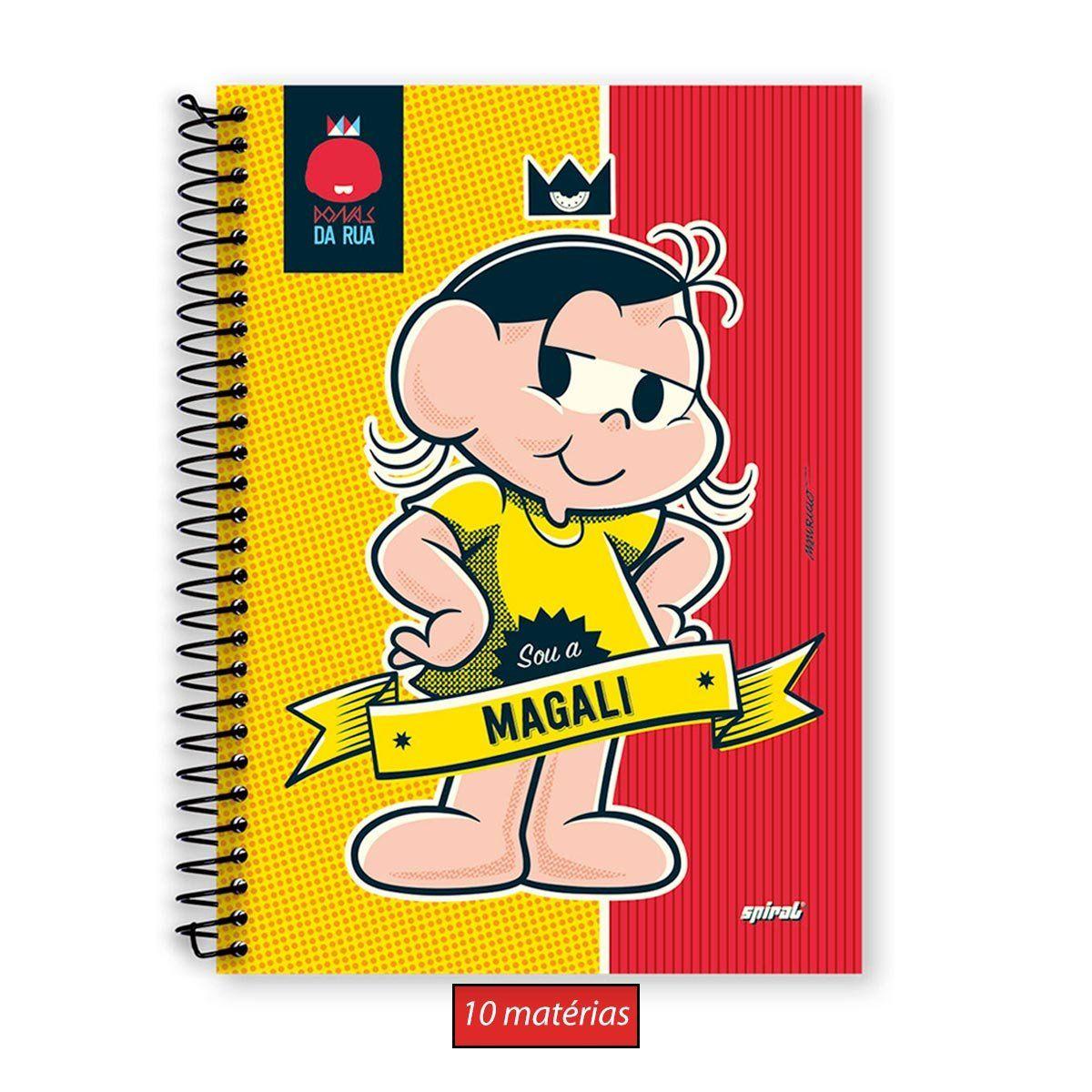 Caderno Magali Dona da Rua 10 Matérias