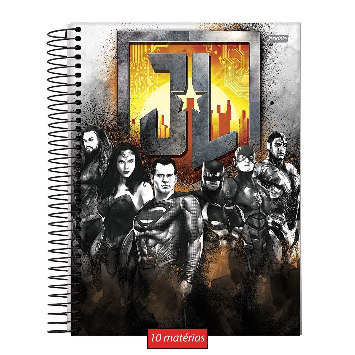 Caderno Metal Justice League 10 Matérias