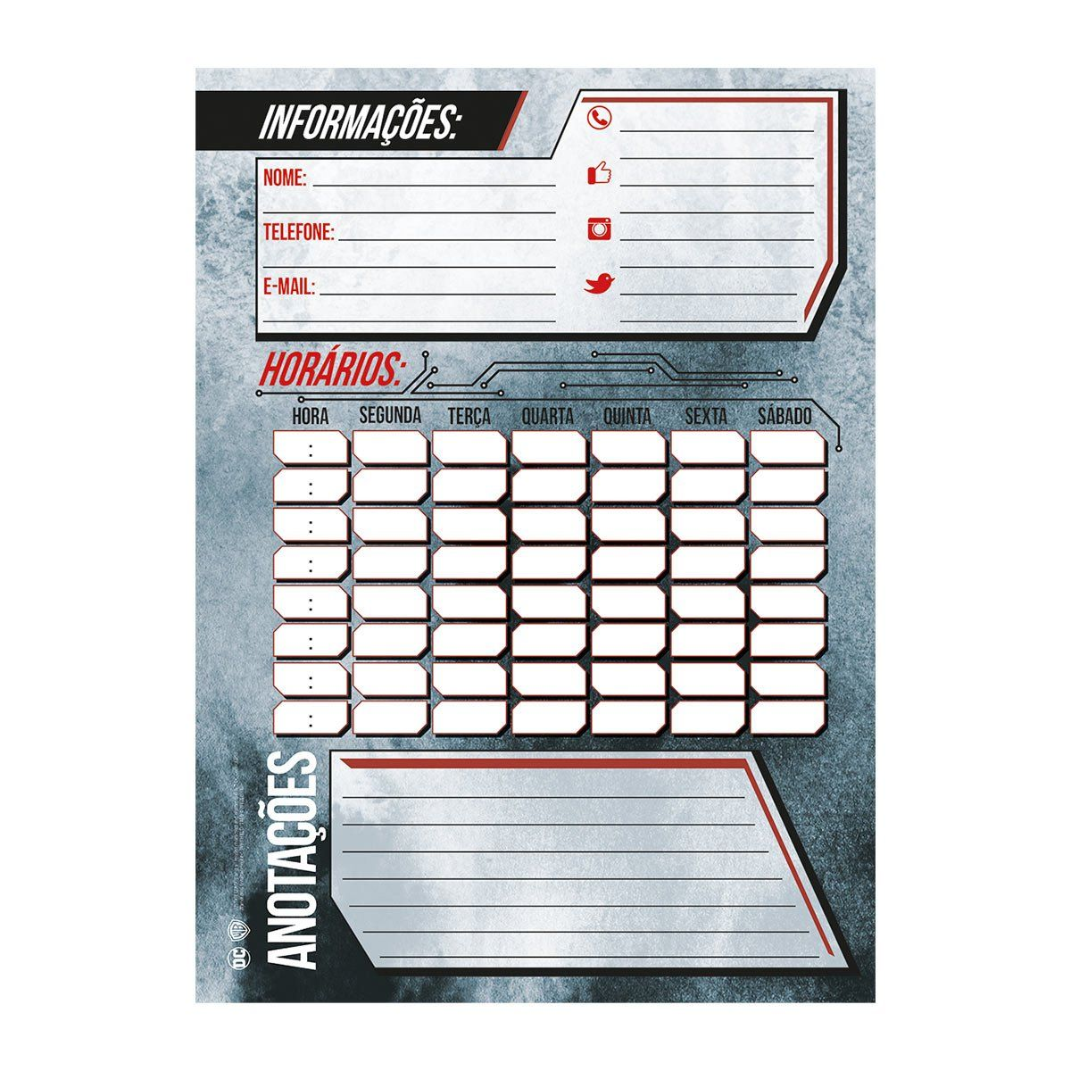 Caderno Metal Justice League 1 Matéria