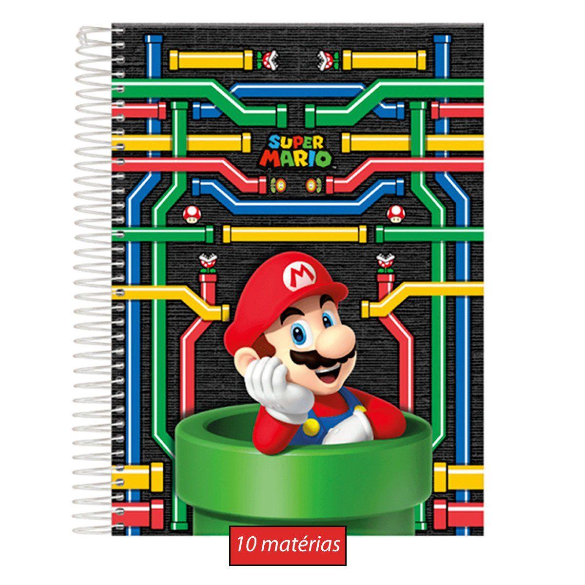 Caderno Super Mario 10 Matérias
