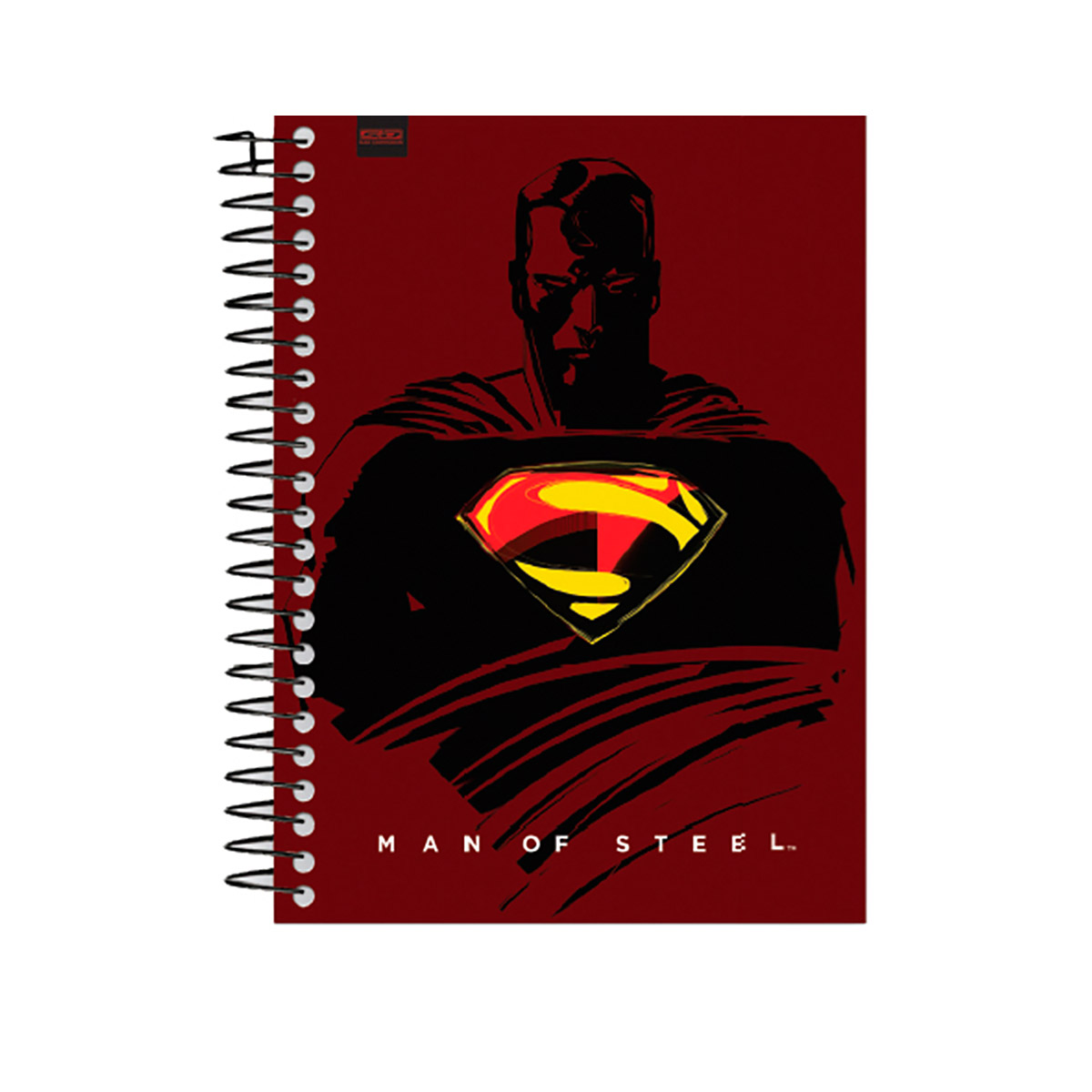 Caderno Superman Man of Steel Brown 1 Matéria