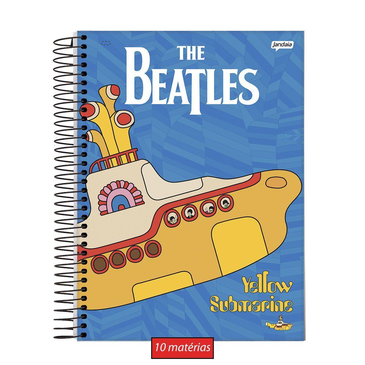 Caderno The Beatles Sea Submarine 10 Matérias