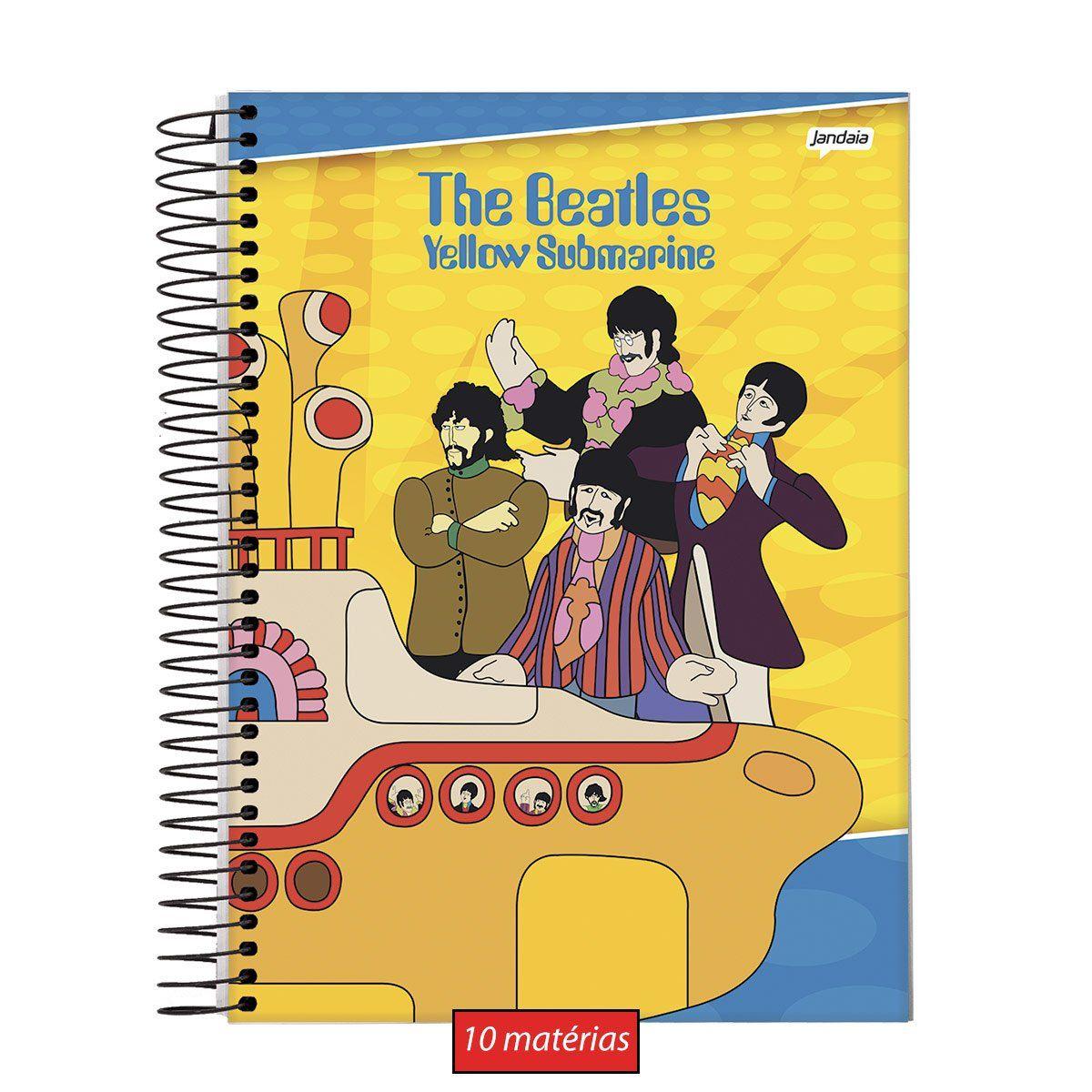 Caderno The Beatles Yellow 10 Matérias