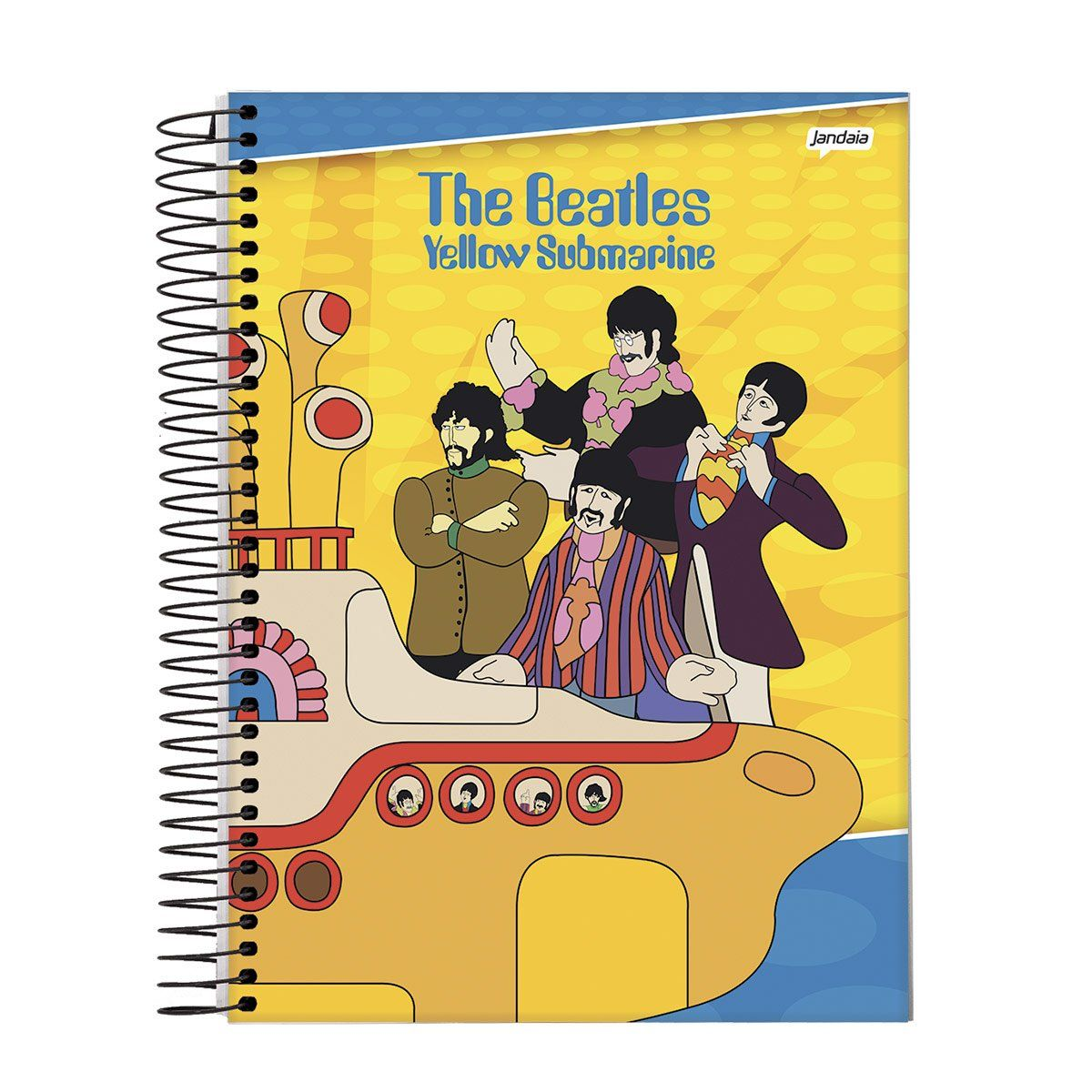 Caderno The Beatles Yellow 1 Matéria