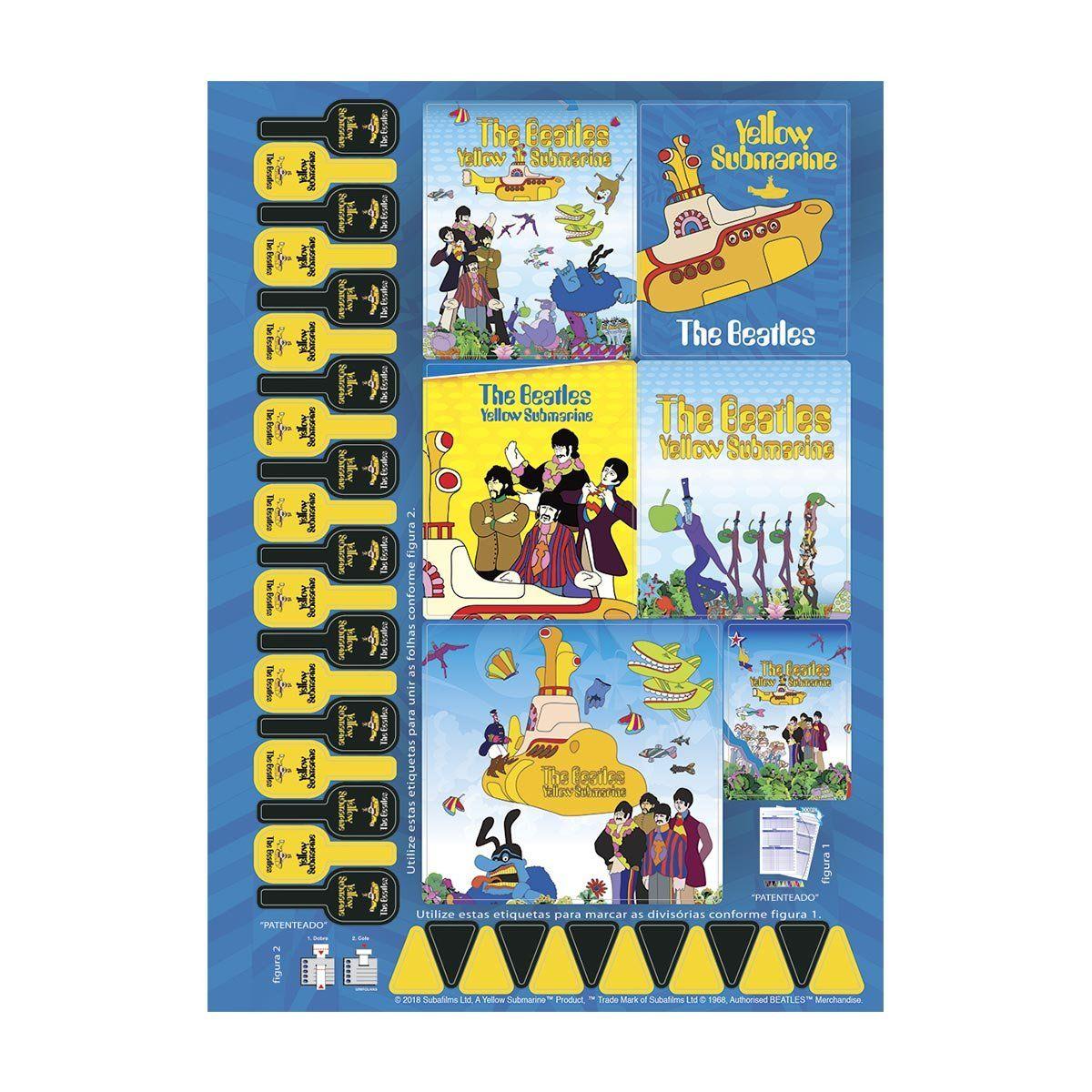 Caderno The Beatles Yellow Submarine 1 Matéria