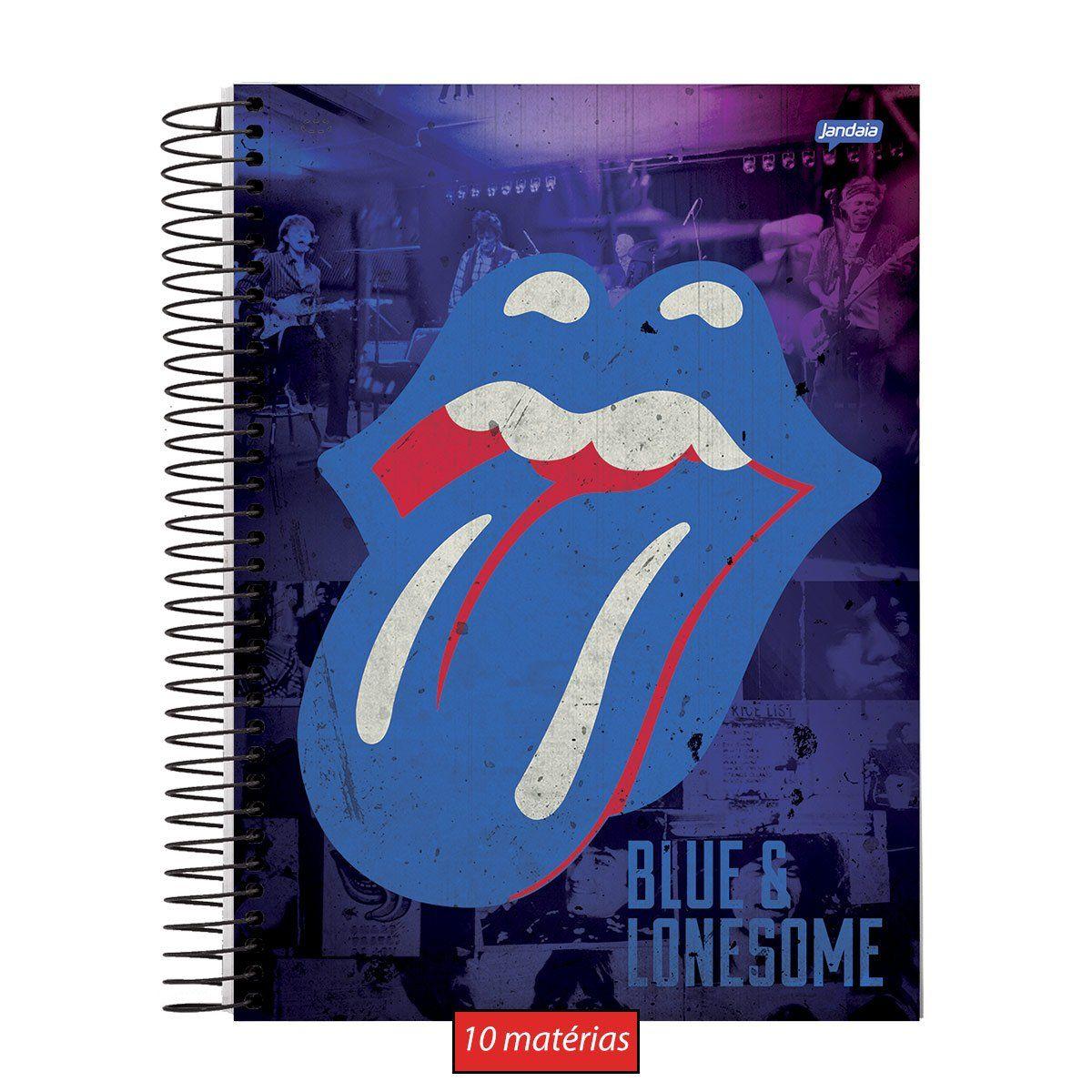 Caderno The Rolling Stones Blue 10 Matérias