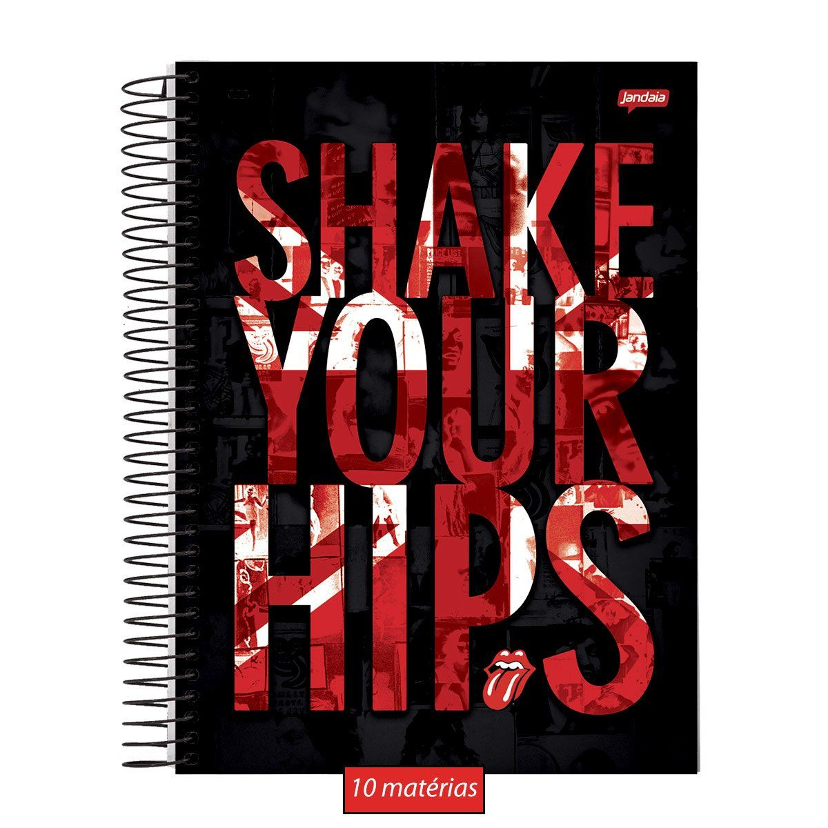 Caderno The Rolling Stones Shake Your Hips 10 Matérias