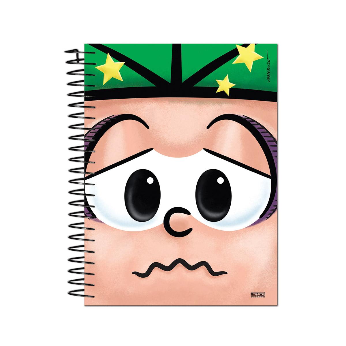 Caderno Turma da Mônica Big Face Cebolinha 1 Matéria