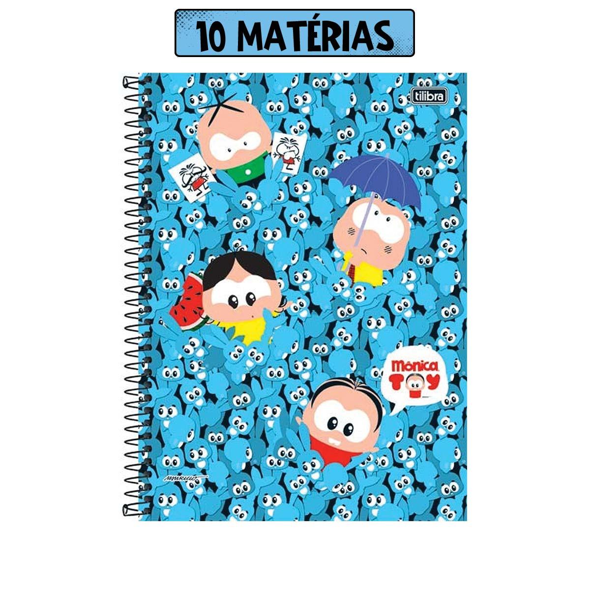 Caderno Turma da Mônica Sansão Toy 10 Matérias