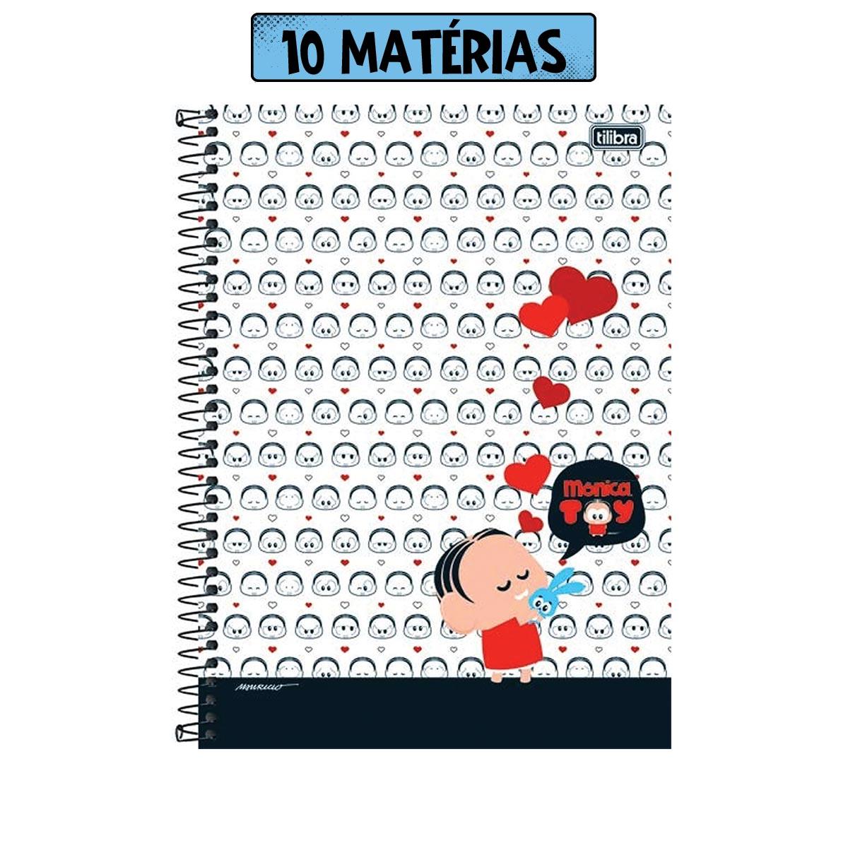 Caderno Turma da Mônica Toy Inlove 10 Matérias