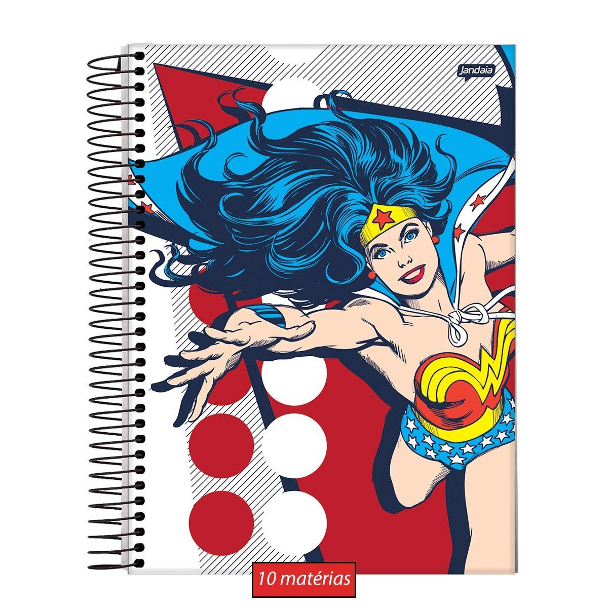 Caderno Wonder Woman Classic HQ Prince Action 10 Matérias