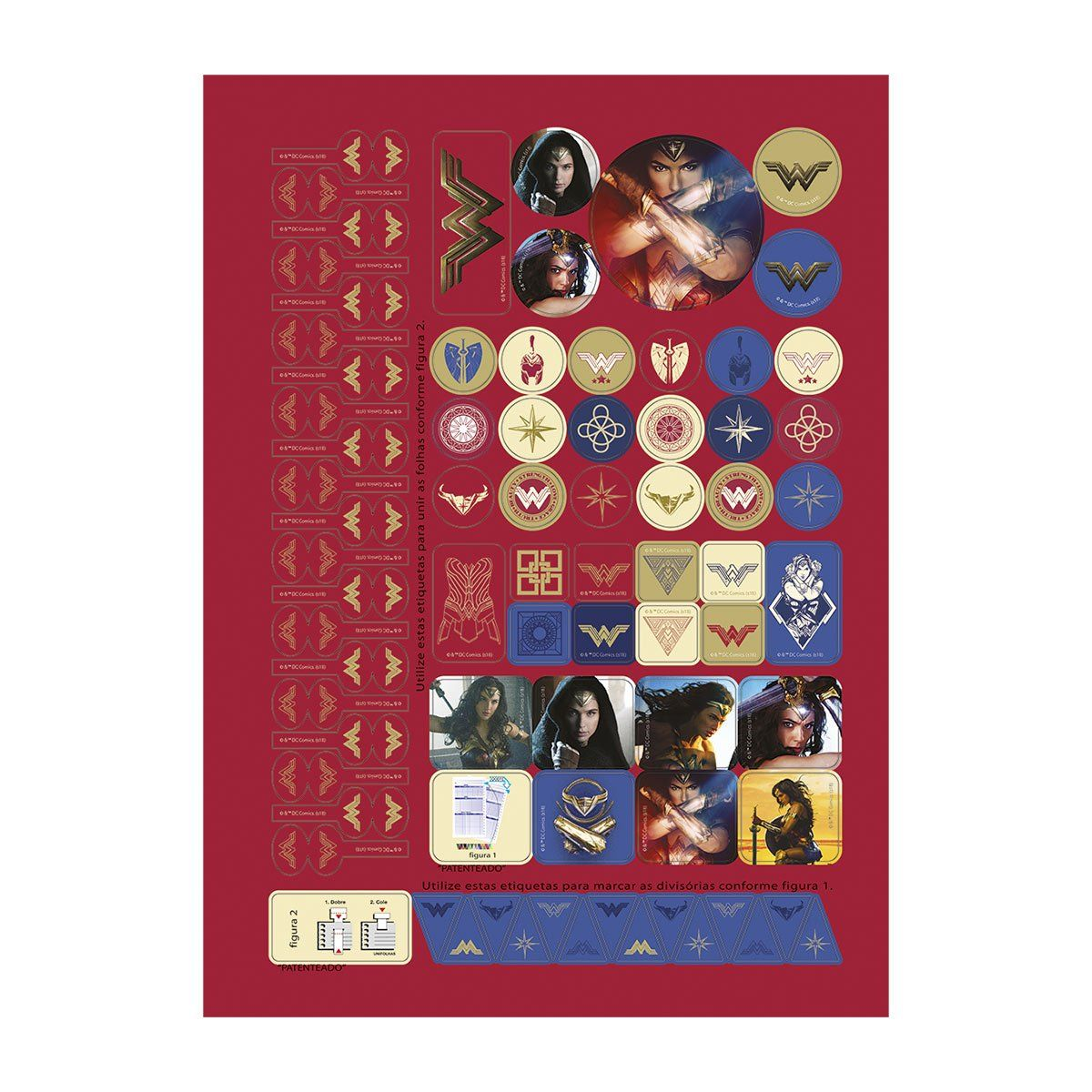 Caderno Wonder Woman Icons 10 Matérias