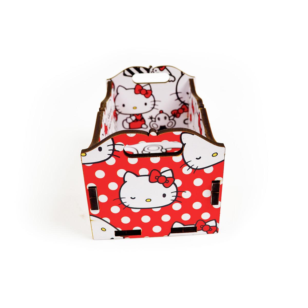 Caixote de Mesa Hello Kitty Red Bow