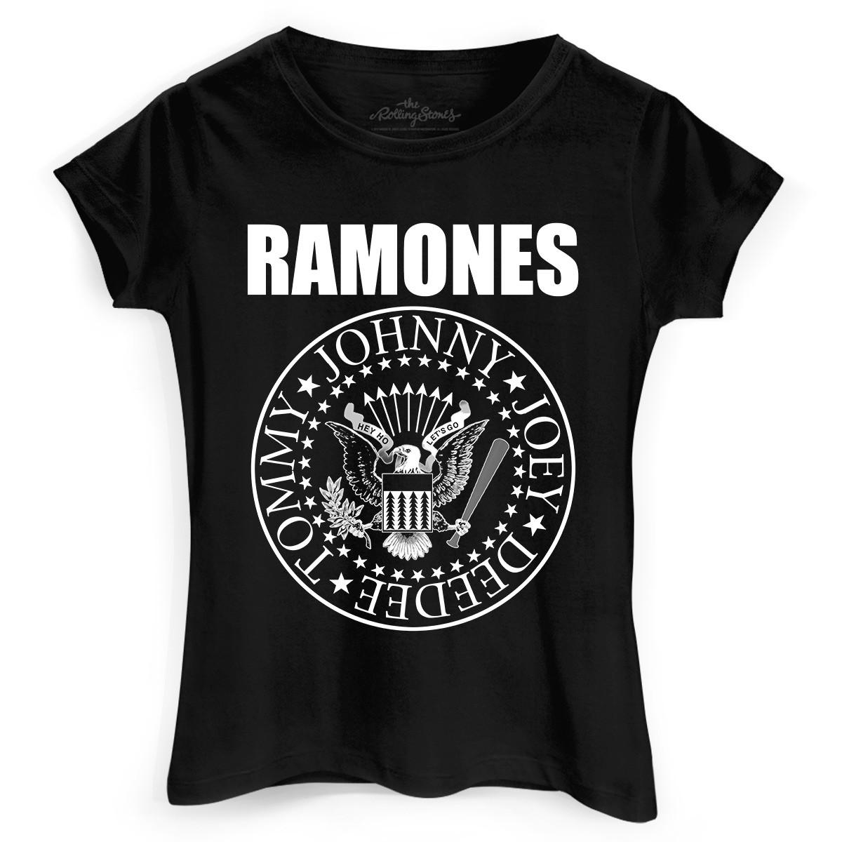 Camiseta Feminina Ramones Logo