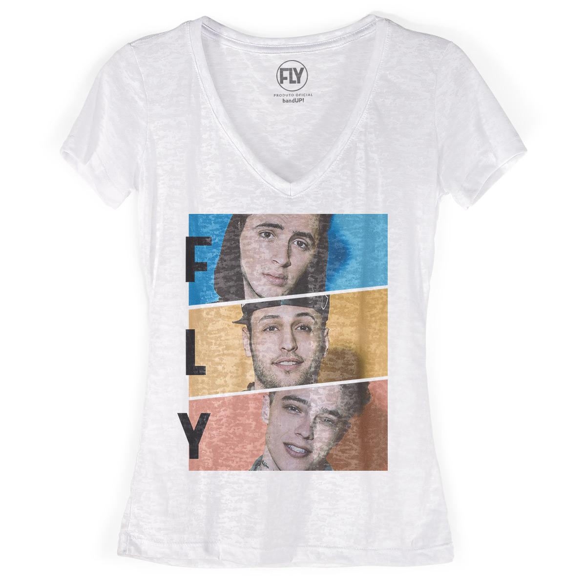Camiseta Devorê Feminina Banda Fly Trio