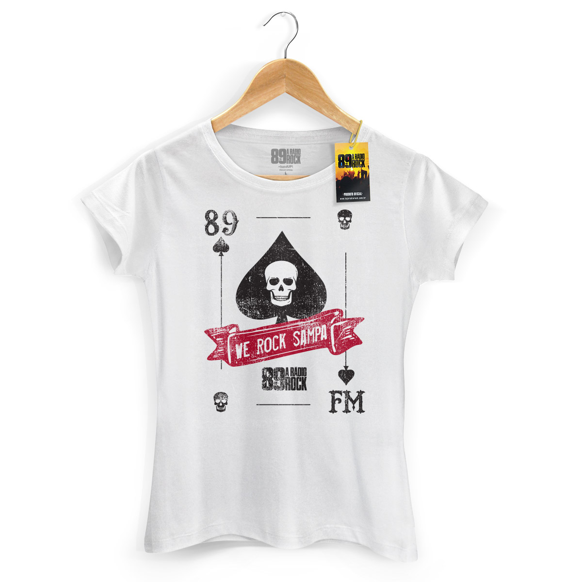 Camiseta Feminina 89 FM A Rádio Rock We Rock Sampa Card