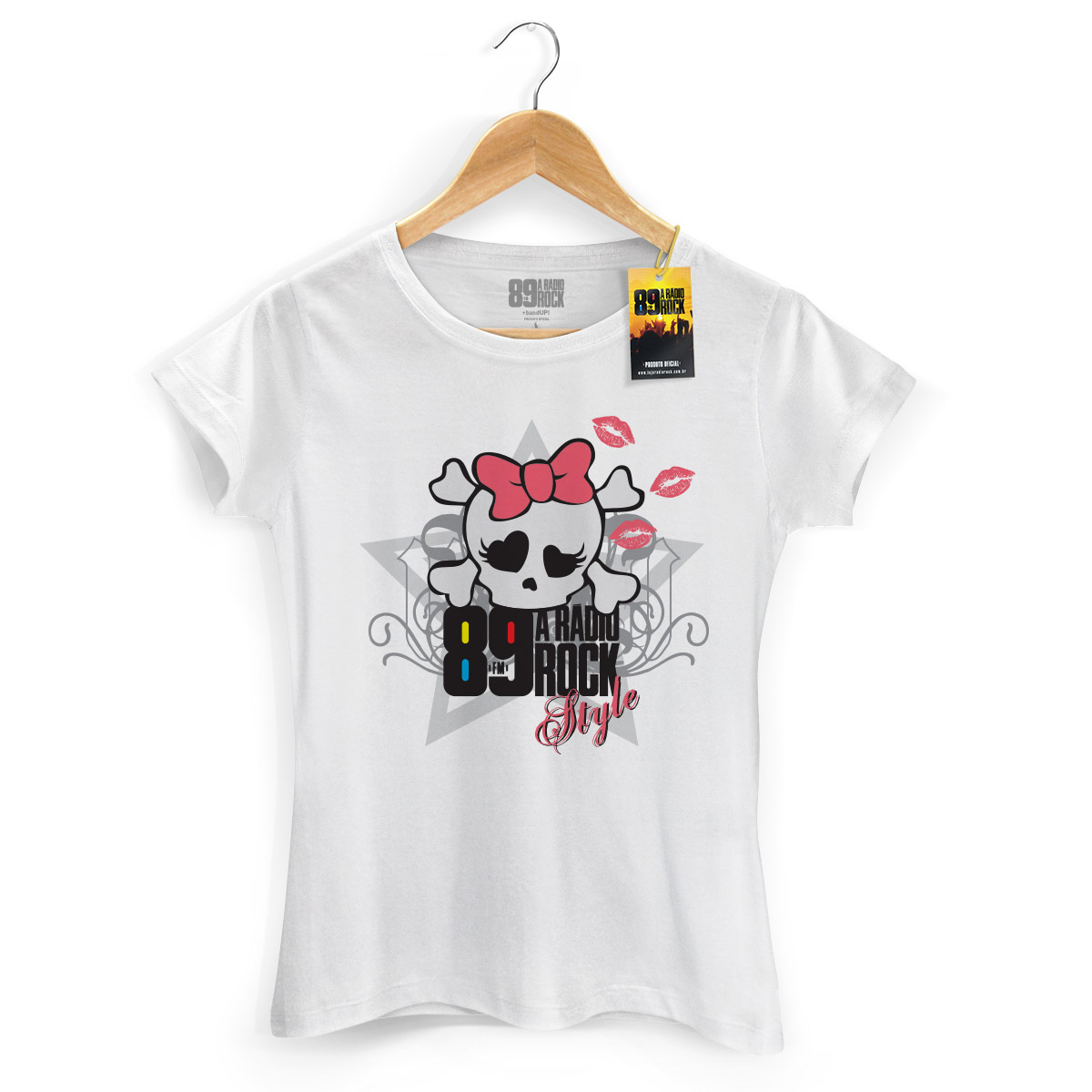 Camiseta Feminina 89 FM Skull Girl