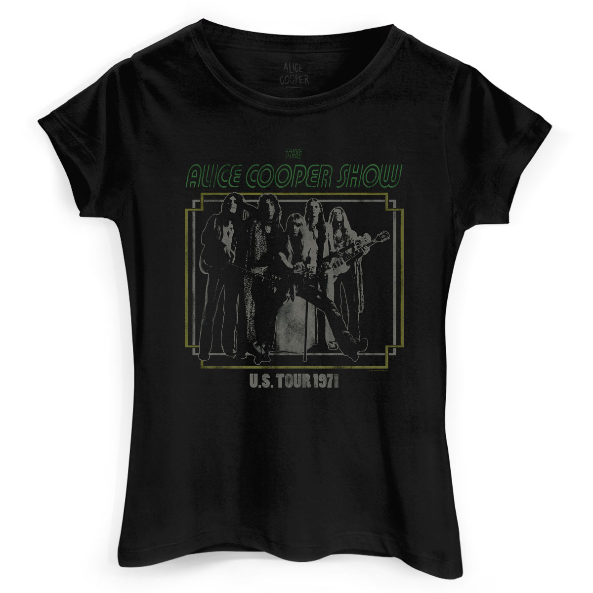 Camiseta Feminina Alice Cooper US Tour 1971