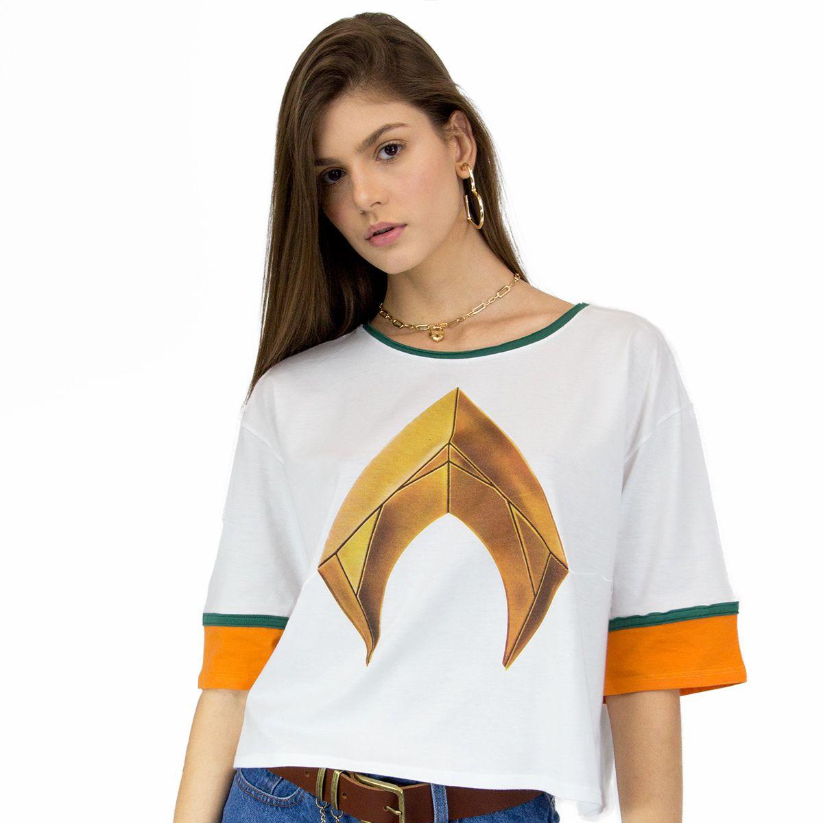Camiseta Feminina Aquaman Logo