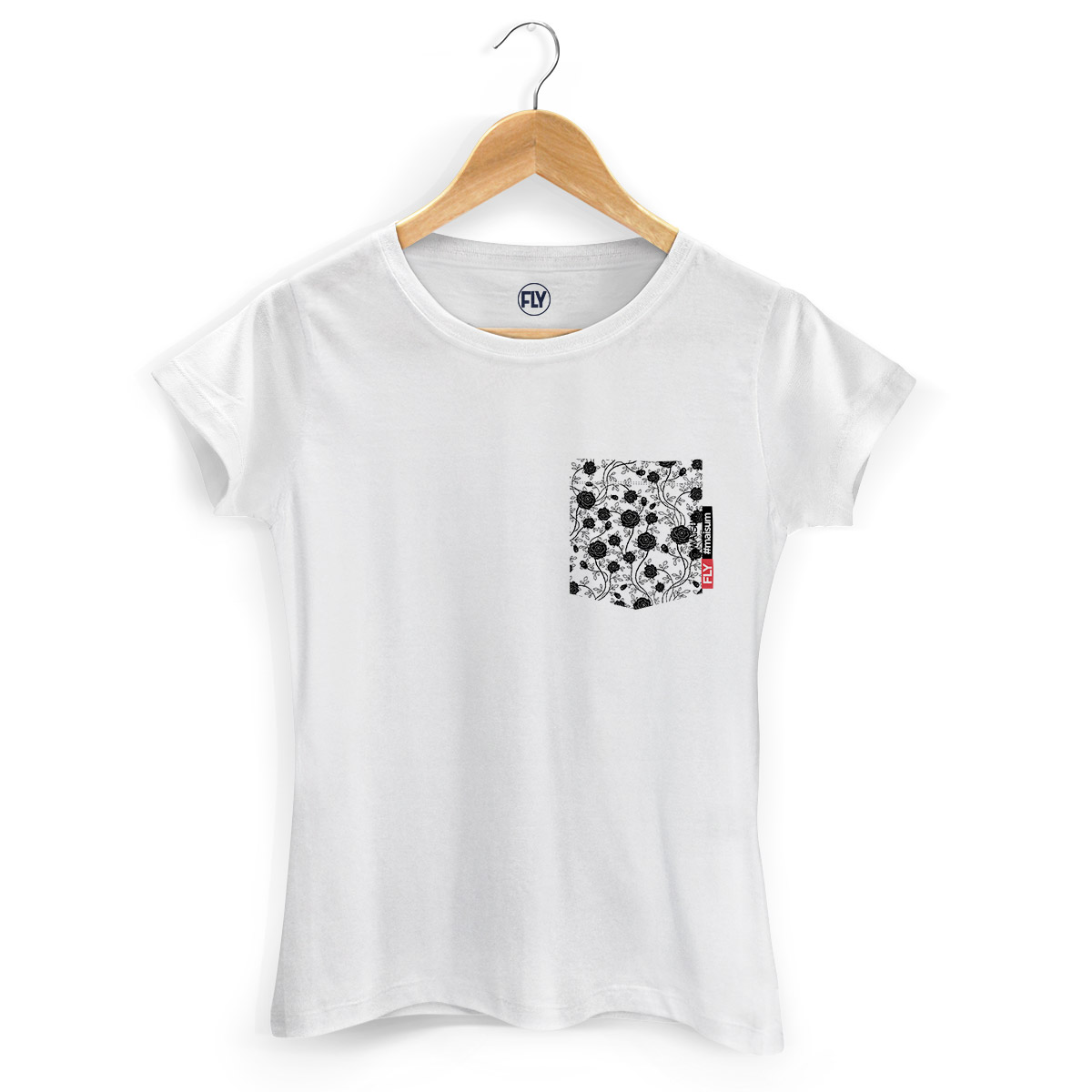 Camiseta Feminina Banda Fly Pocket