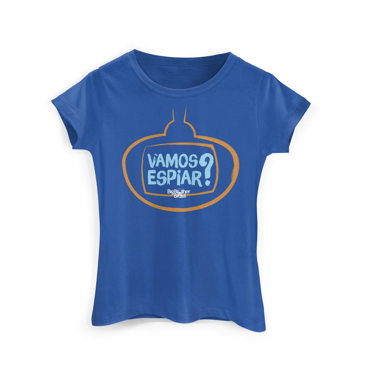 Camiseta Feminina Big Brother Brasil 15 Vamos Espiar Modelo 2
