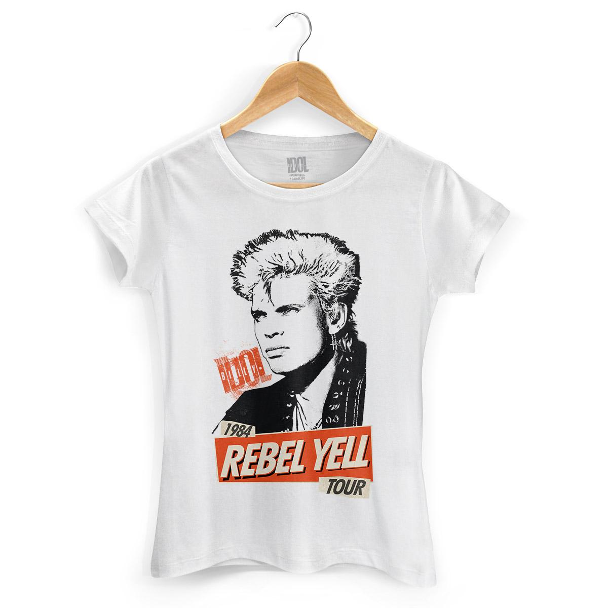 Camiseta Feminina Billy Idol 1984 Rebel Yell Tour