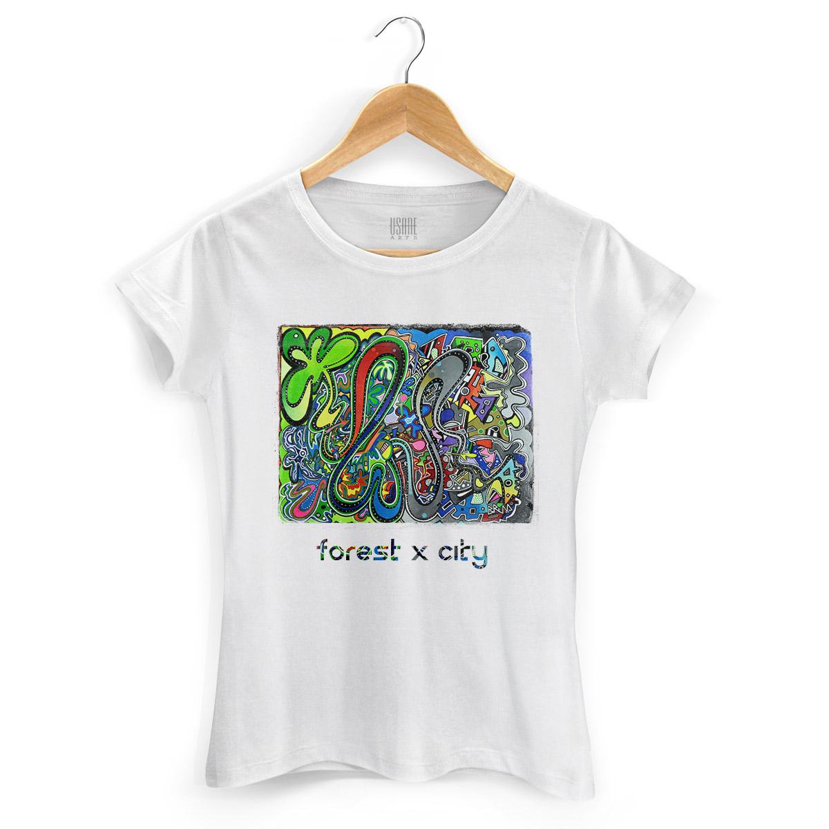 Camiseta Feminina Bruna Forest x City