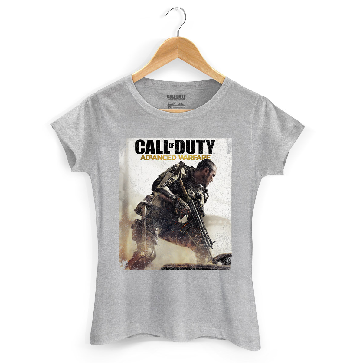 Camiseta Feminina Call Of Duty Soldier
