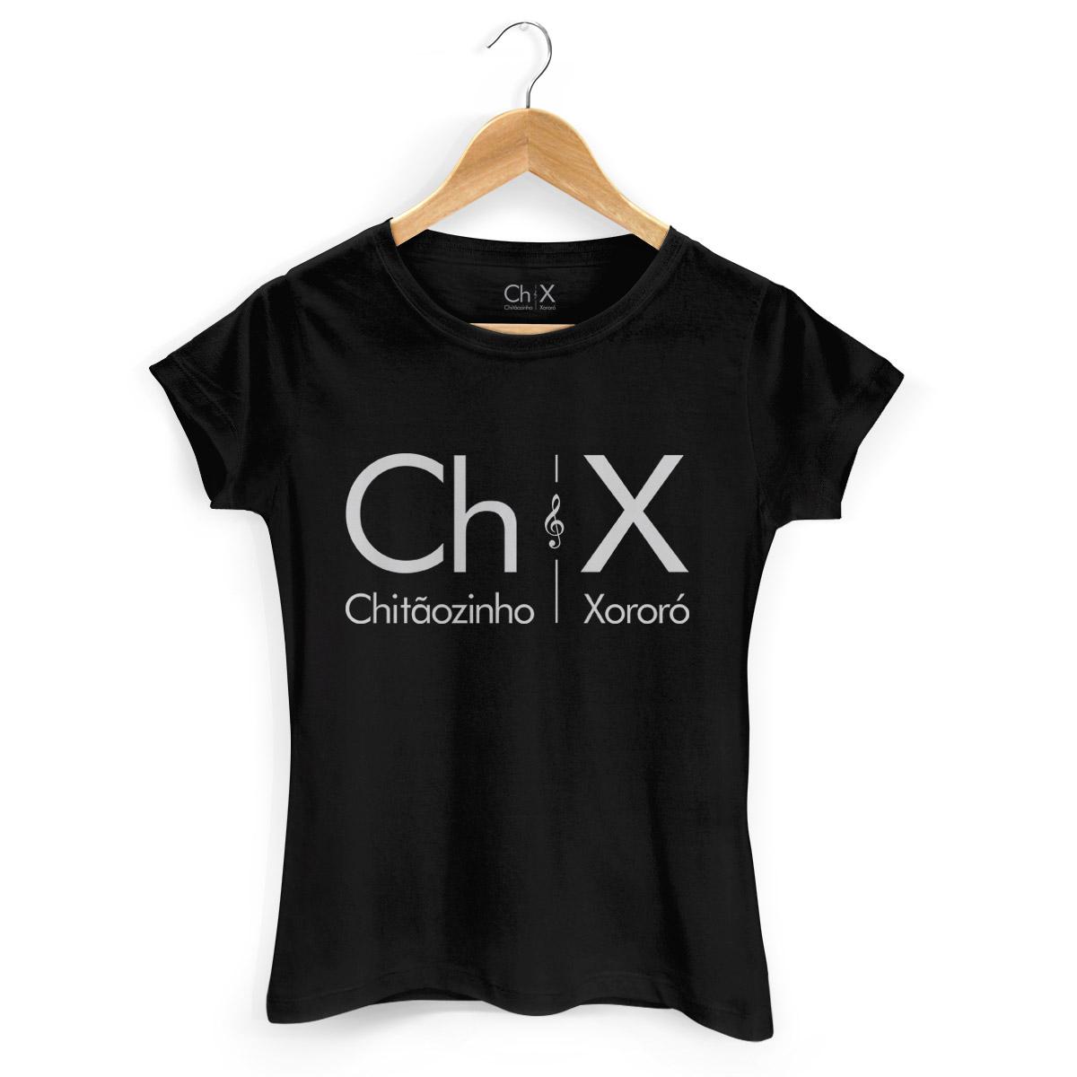 Camiseta Feminina Chitãozinho & Xororó Logo Black