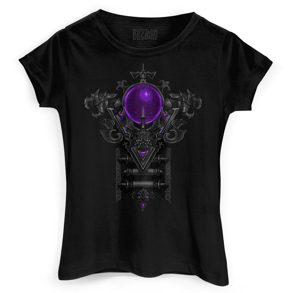 Camiseta Feminina Diablo III Wizard