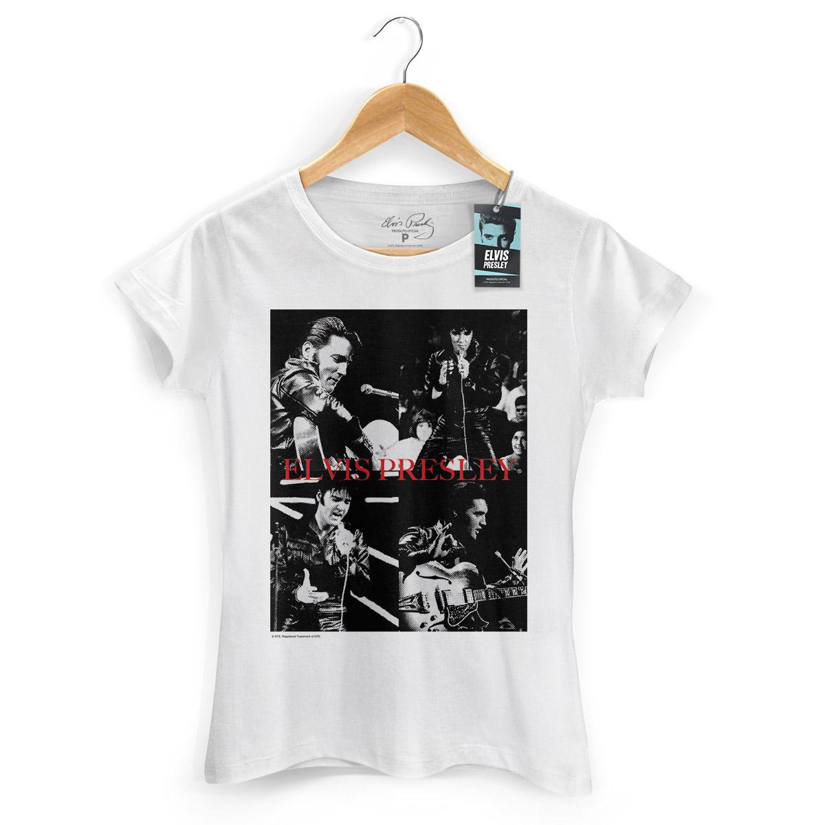 Camiseta Feminina Elvis Presley '68 Pics