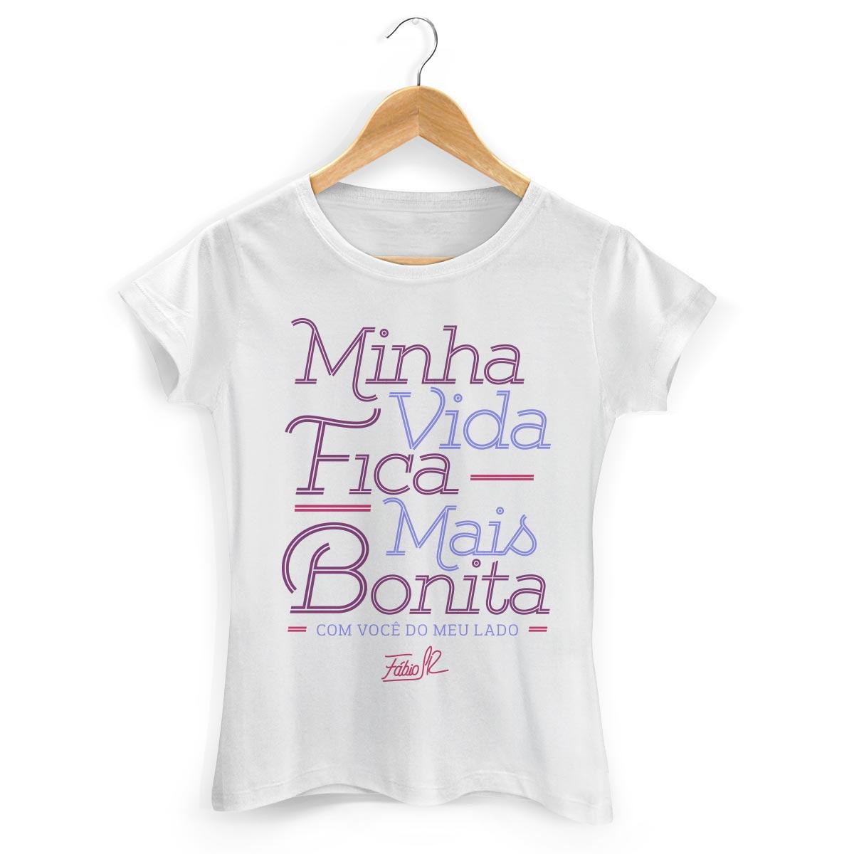 Camiseta Feminina Fábio Junior Minha Vida