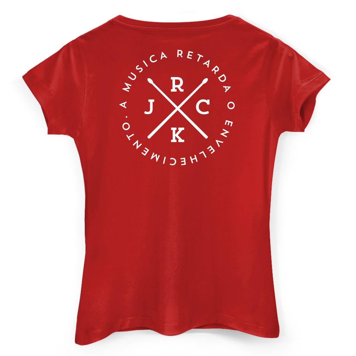 Camiseta Feminina João Rock A Música Retarda o Envelhecimento